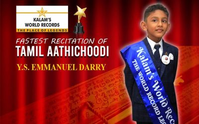 Fastest recitation of tamil aathichoodi