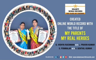 Created Online World Record With The Title My Parents My Real Heroes