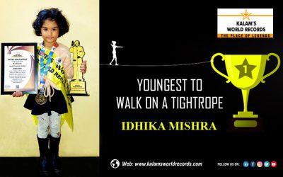 Youngest Kid Walk on a Tightrope