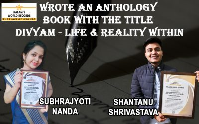Wrote An Anthology Book With The Title – Divyam – Life & Reality Within