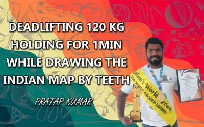 Deadlifting 120 Kg Holding for 1Min While Drawing The Indian Map By Teeth