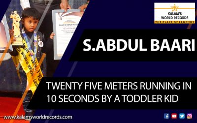 Hundred Meters Running In 47 Seconds by A Toddler Kid