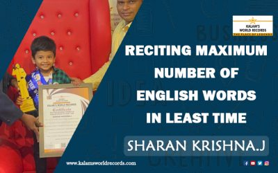 Reciting Maximum Number of English Words in Least Time