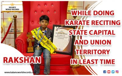 While Doing Karate Reciting State Capital and Union Territory in Least Time