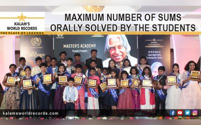 Maximum Number of Sums Orally Solved by the Students