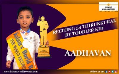 Reciting 54 Thirukkural by Toddler Kid