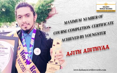 Maximum Number of Course Completion Certificate Achieved by Youngster