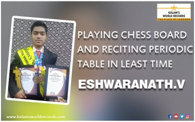 Playing Chess Board and Reciting Periodic Table in the least Time
