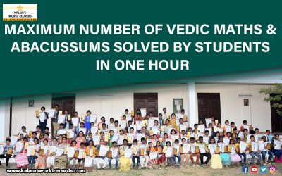 Maximum Number of Vedic Maths & Abacus Sums Solved by Students in One Hour