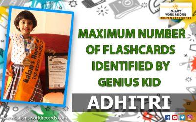 Maximum Number of Flashcards Identified by Genius Kid