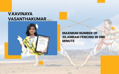 Maximum Number Of  Silambam Fencing In One Minute