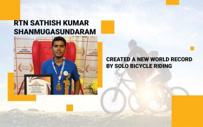 Created A New World Record By Solo Bicycle Riding