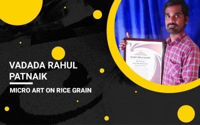 Micro Art On Rice Grain