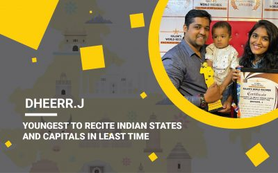 Youngest To Recite Indian States  And Capitals in the least Time
