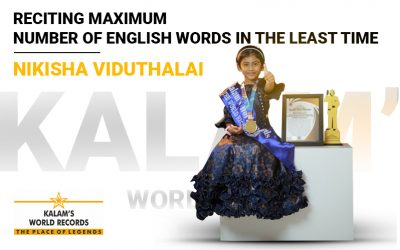 Reciting Maximum Number of English Words in the Least Time