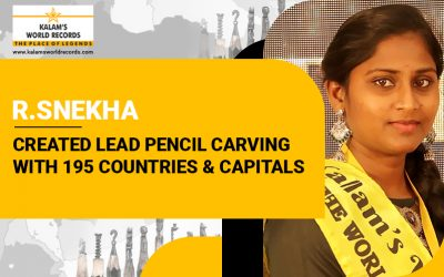 Created Lead Pencil Carving   With 195 Countries & Capitals