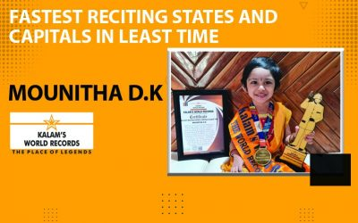Fastest Reciting States & Capitals in Least Time