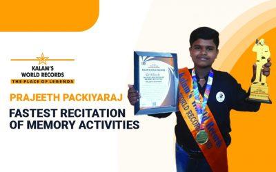 Fastest Recitation of Memory Activities