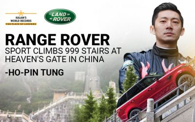 Range Rover Sport Climbs 999 Stairs at Heaven's Gate in China