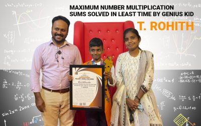 Maximum Number Multiplication Sums Solved in Least Time by Genius Kid