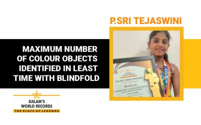 Maximum Number of Colour Objects Identified in Least Time With Blindfold