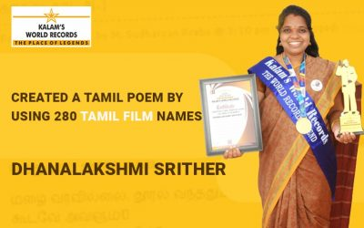 Created a Tamil Poem by Using 280 Tamil Film Names