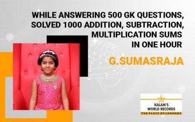 While Answering 500 Gk Questions,solved 1000 Addition, Subtraction,multiplication Sums in One Hour