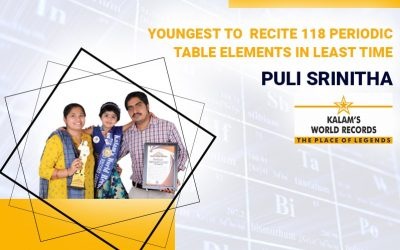Youngest To Recite 118 Periodic Table Elements In The Least Time