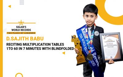 Reciting Multiplication Tables 1 to 60 In 7 Minutes With Blindfolded