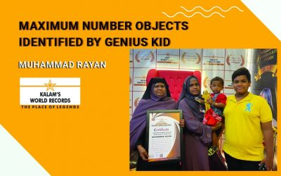 Maximum Number Objects Identified by Genius Kid