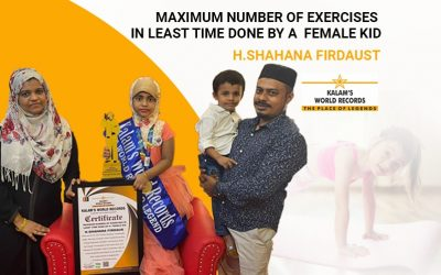Maximum Number of Exercises in Least Time Done by a  Female Kid