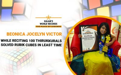 While Reciting 100 Thirukkurals Solved Rubik Cubes in Least Time