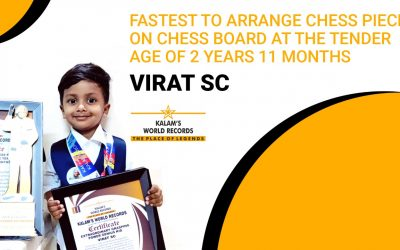 Fastest to Arrange Chess Pieces on Chess Board at the Tender Age of 2 Years 11 Months