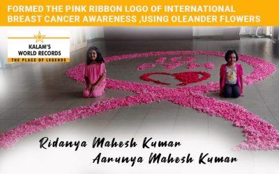 Formed the Pink Ribbon Logo of International Breast Cancer Awareness, Using Oleander Flowers