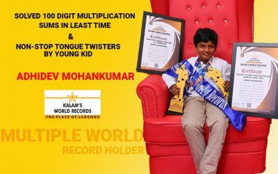 Solved 100 Digit Multiplication Sums in Least Time & Non-stop Tongue Twisters by Young Kid
