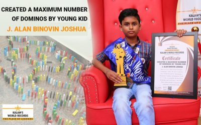 Created a Maximum Number of Dominos by Young Kid