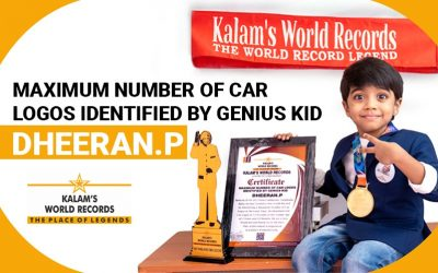 Maximum Number of Car Logos  Identified by Genius Kid