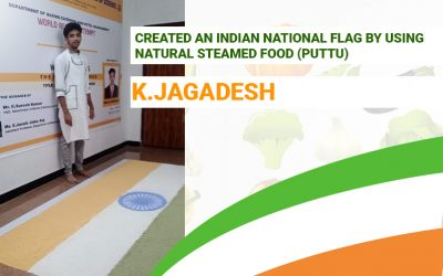 Created an Indian National Flag by Using Natural Steamed Food (Puttu)