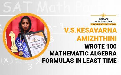 Wrote 100 Mathematic Algebra Formulas in Least Time