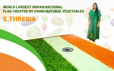 World Largest Indian National Flag Created by Using Natural Vegetables