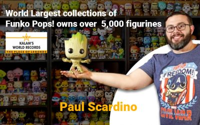 World Largest collections of  Funko Pops! owns over  5,000 figurines