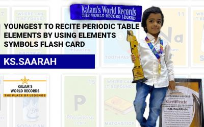 Youngest to Recite Periodic Table Elements by Using Elements Symbols Flash Card