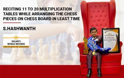 Reciting 11 to 20 Multiplication Tables While Arranging the Chess Pieces on Chess Board in the least Time