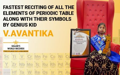 Fastest Reciting of All the Elements of Periodic Table Along With Their Symbols by Genius Kid