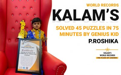 Solved 45 Puzzles in 75 Minutes by Genius Kid