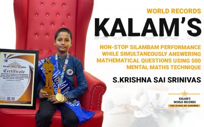 Non-stop Silambam Performance While Simultaneously Answering 500 Mathematical Questions Using Mental Maths Technique