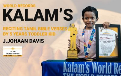 Reciting Tamil Bible Verses by 5 Years Toddler Kid