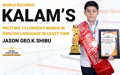 Reciting 15 Longest Words in English Language in Least Time
