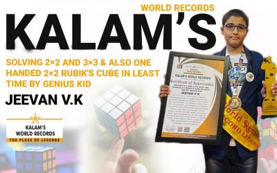 Solving 2×2 and 3×3 & Also One Handed 2×2 Rubik's Cube in Least Time by Genius Kid