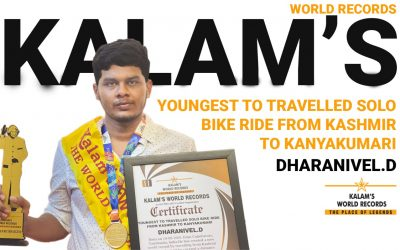 Youngest to Travelled Solo Bike Ride From Kashmir to Kanyakumari